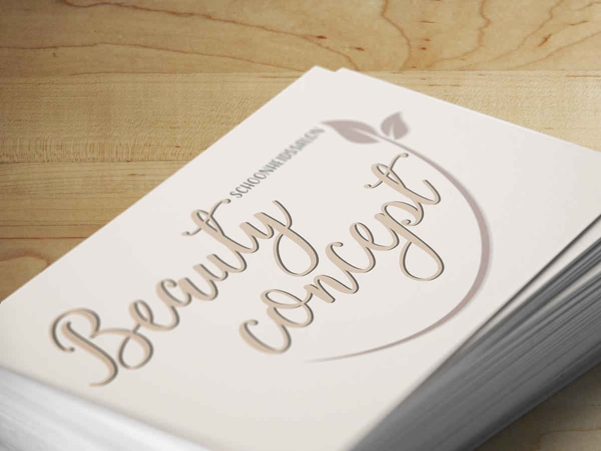 Beauty Concept afspraakkaart voorpagina