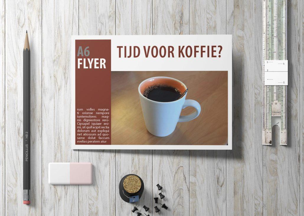 Rooij & Burg | Flyer A6 liggend enkelzijdig Full colour