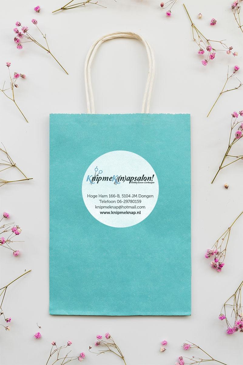 Stickers KnipmeKnap! | Ontwerp Rooij & Burg