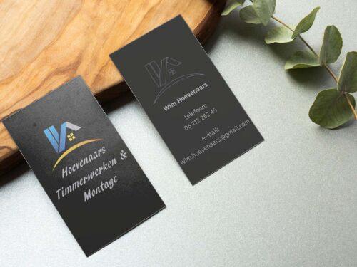 visitekaartje Wim Hoevenaars Timmerwerken en montage