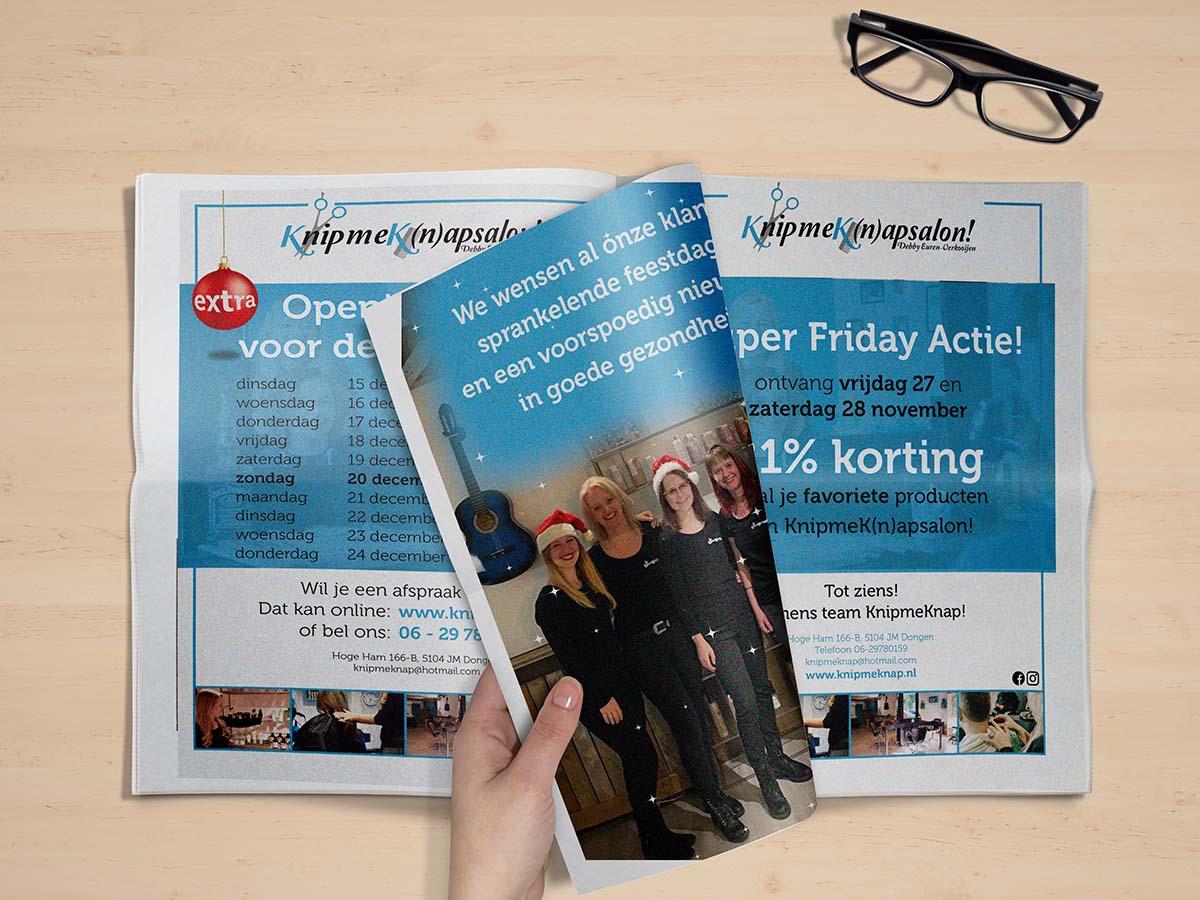 advertenties KnipmeKnap | Ontwerp Rooij & Burg
